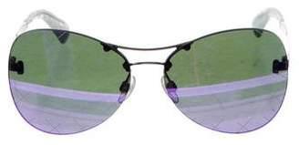 Chanel 2016 Mirrored Pilot Sunglasses