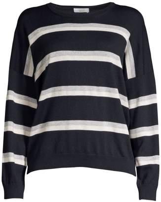 Peserico Lurex Striped Wool, Silk & Cashmere Sweater