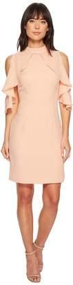 Catherine Malandrino Fern Ruffle Front Sheath Dress Women's Dress