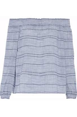 Rag & Bone Drew Off-The-Shoulder Striped Cotton Top