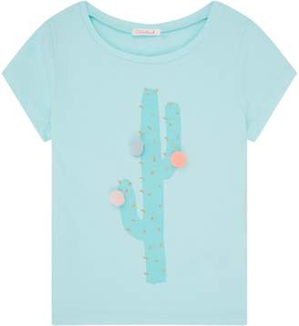 Billieblush Cactus Print Pom Pom T-Shirt