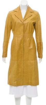 Philosophy di Alberta Ferretti Long Leather Coat