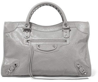 Balenciaga Classic City Textured-leather Tote - Gray