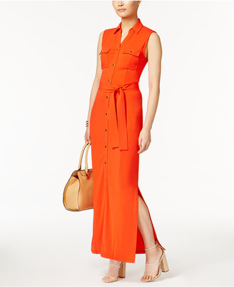 Grace Elements Belted Maxi Shirtdress $80 thestylecure.com