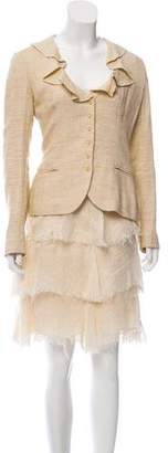 Ralph Lauren Linen & Silk-Blend Skirt Suit