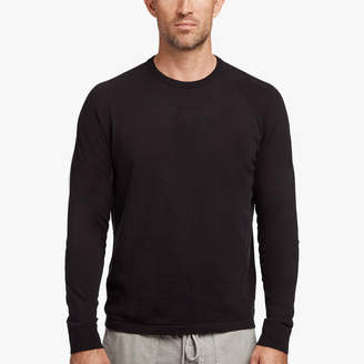 James Perse COTTON MELANGE RAGLAN SWEATER
