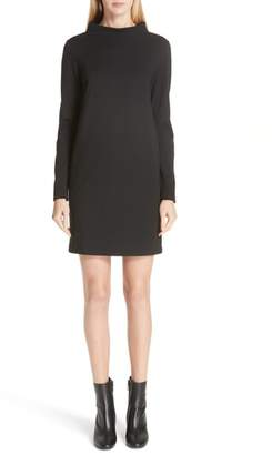 Fuzzi Mock Neck Long Sleeve Shift Dress