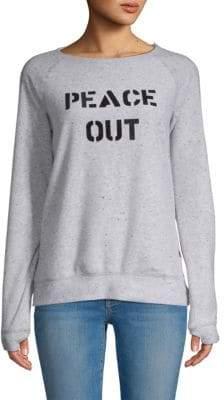 Peace Love World Classic Printed Sweatshirt