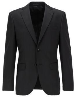 BOSS Hugo Italian Wool Sport Coat, Regular Fit Johnstons CYL 40R Black