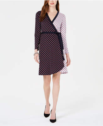 Tommy Hilfiger Star-Print Wrap Dress