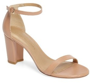 Women's Stuart Weitzman Nearlynude Ankle Strap Sandal