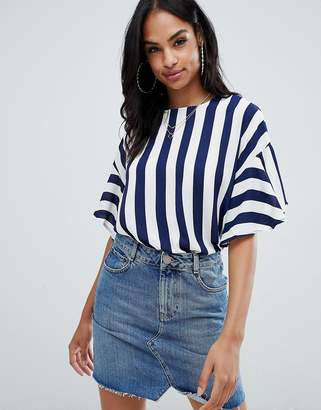 AX Paris striped 3/4 Sleeve top