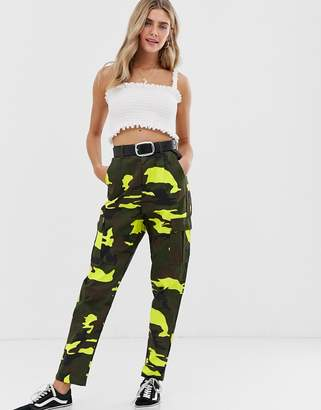 Daisy Street camo cargo trousers