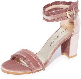Stuart Weitzman Frayed Sandals $425 thestylecure.com