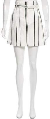 3.1 Phillip Lim Striped Linen-Blend Skirt w/ Tags