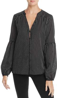 Paige Emilia Striped Bell-Sleeve Top