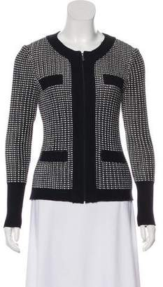 St. John Patterned Collarless Jacket