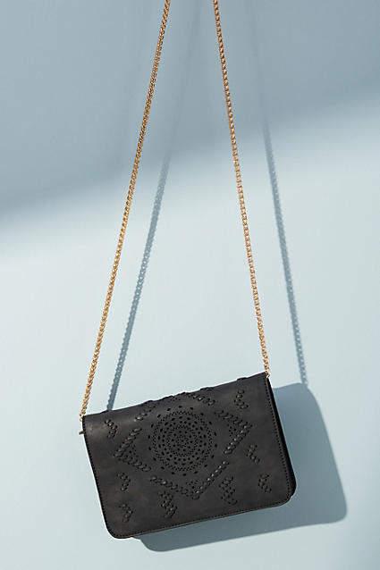 Anthropologie Evangeline Perforated Crossbody Bag