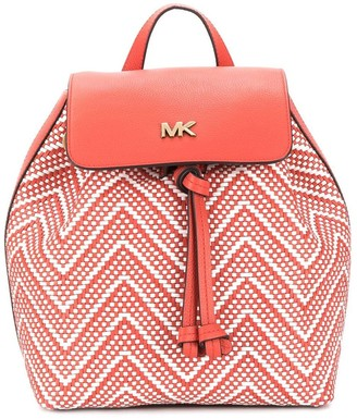 MICHAEL Michael Kors woven-effect backpack