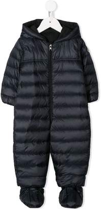Moncler zipped padded babygrow
