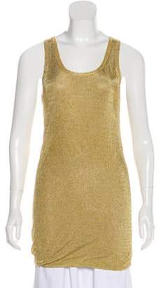 Michael Kors Metallic Sleeveless Tunic Gold Metallic Sleeveless Tunic
