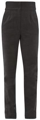 Dolce & Gabbana High Rise Tweed Trousers - Womens - Grey