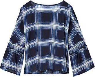 Vince Camuto Oversize-plaid Top