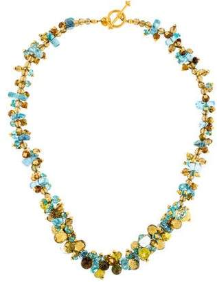 Laura Gibson 18K Multistone Faceted Bead Necklace