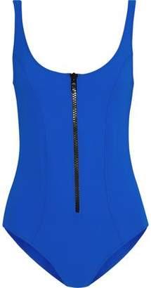 Lisa Marie Fernandez Jasmine Zip-detailed Bonded Swimsuit