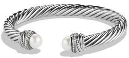 David Yurman Crossover Bracelet with Pearls and Diamonds $1,250 thestylecure.com