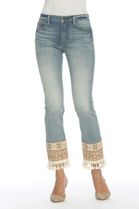 Driftwood Colette Tapestry & Tassel Hem Jeans