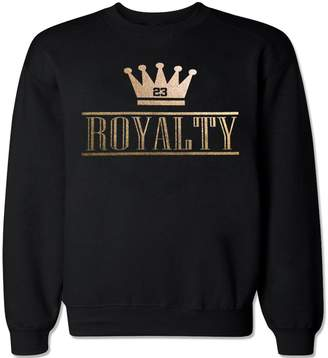 FTD Apparel Men's Royalty Crown Retro 4 Metallic Gold Crew Neck Sweater - XL