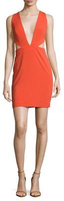 Rhodium Cut-Out Mini Dress $180 thestylecure.com
