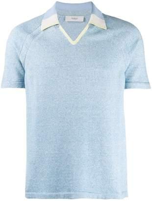 Pringle V-neck contrast collar polo shirt