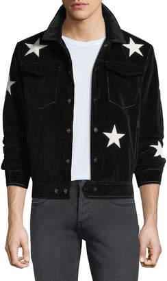 Ovadia & Sons Men's Star-Motif Snap-Front Jacket