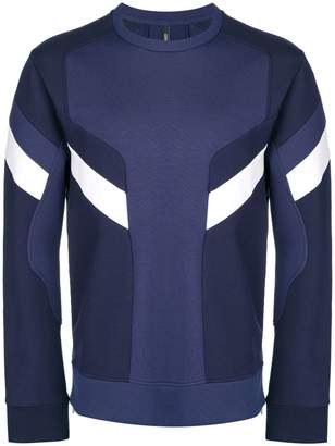 Neil Barrett panelled crew neck sweatshirt