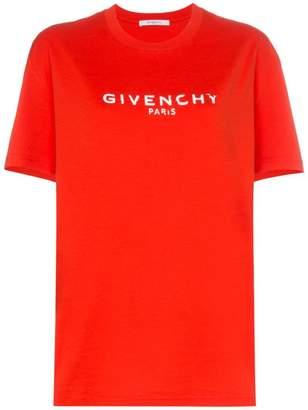 Givenchy logo print regular fit cotton t shirt