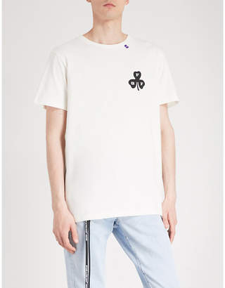 Off-White Clover cotton-jersey T-shirt