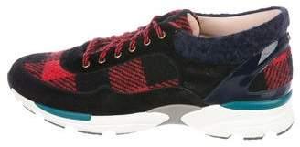 Chanel Tweed Low-Top Sneakers