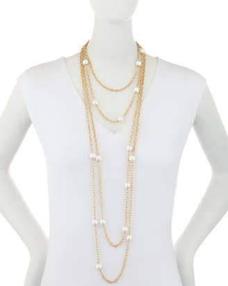 """Kenneth Jay Lane 4-Layer Chain Necklace, 28"""""""