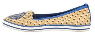 Tory Burch Polka Dot Logo Loafers