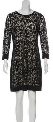Magaschoni Silk Lace Mini Dress