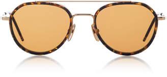 Thom Browne Sun Tortoiseshell Aviator Sunglasses