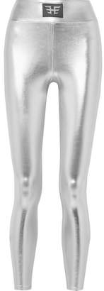 Heroine Sport Luna Metallic Stretch Leggings - Silver