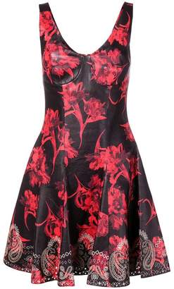 Roberto Cavalli Parrot Tulip print mini dress