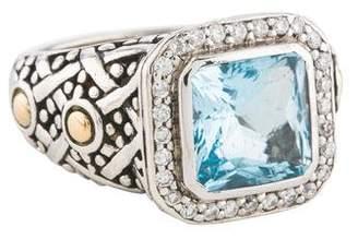 John Hardy Topaz & Diamond Batu Sari Ring