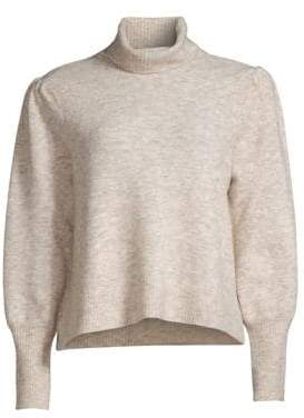Frame Swingy Marled-Knit Turtleneck Sweater
