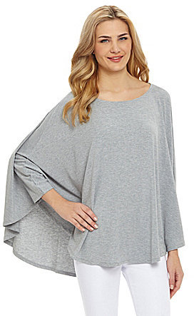 Kate Landry Solid Jersey Poncho