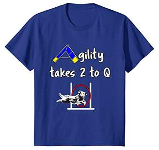 Golden Retriever Dog Agility T Shirt - Takes 2 to Q with
