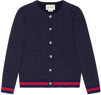 Children's wool cardigan with Web $315 thestylecure.com